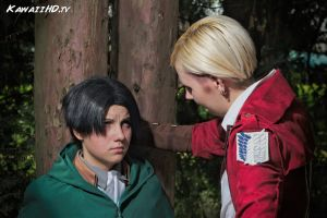 Attack on Titan, Levi and Erwin by KawaiiHD