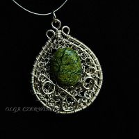 Green Jasper Pendant by OlgaC