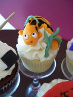 Koi fish cupcake by see-through-silence