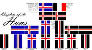 Kingdom of the Huns: Flags by Spiritswriter123