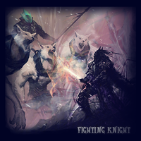Fighting Knigh art by Pahasusi