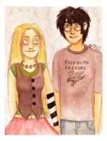 Harry and Luna by kiwikewte