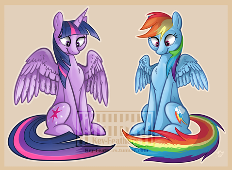 Little ponies by Key-FeathersMLP