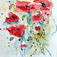 Poppies04  by GruenwaldArt