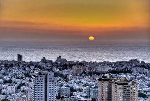 Tel Aviv Sunset by JBord