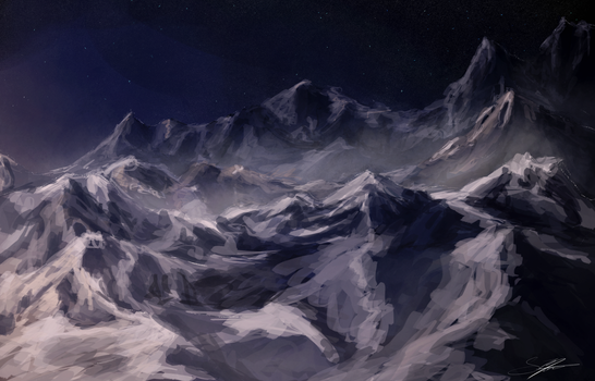 Mountains - Sketchdoodle by Kadira7211
