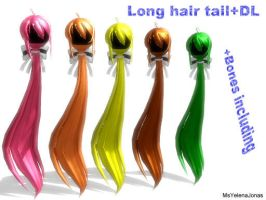 MMD: Long hair tail: +DL by MsYelenaJonas