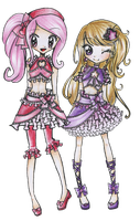 Candy and Haruka by Chancetodraw