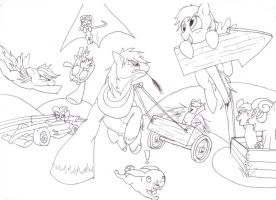 The Race lined version by megaphonnic