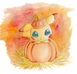 Pumpkin Pikachu by Clinkorz