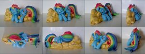 Rainbow Dash sculpture new pictures (SOLD) by LtiaChan