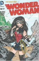 Woman Woman sketch cover by PonyGoddess