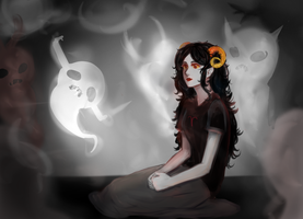 Aradia and  ghosts by DominoCherry