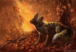 Autumn forest by FlashW