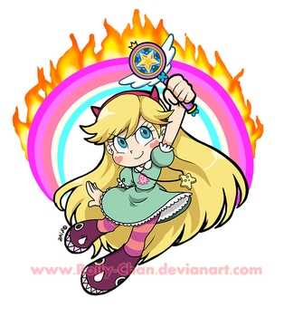 Star Butterfly rainbow by Rolly-Chan