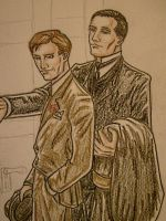 Jeeves + Wooster by kanetosama