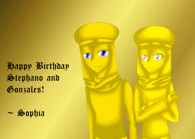 Happy Birthday Stephano and Gonzales! :D by YanderePrime