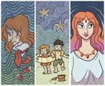 Ponyo Bookmarks by PicturesofGrandma