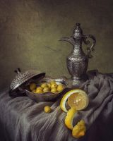 Still life with olives by Daykiney