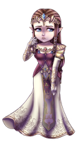 Twilight Princess Chibi: Princess Zelda by KimiCookie
