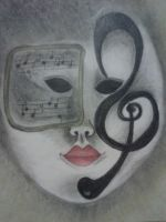 Musical Masquerade Mask by DemonRed6