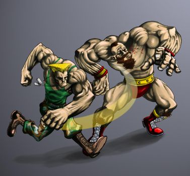 GUILE vs ZANGIEF by ugurbs