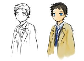 A sketch of Castiel. by Mini-Legion