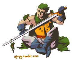 Glenn the Frog Knight from Chrono Trigger by AJRPG