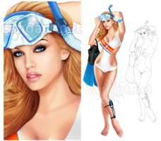 U.S. Coast Guard pinup by jocachi