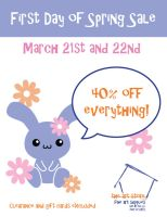 First Day of Spring Sale Flier by Strange-1