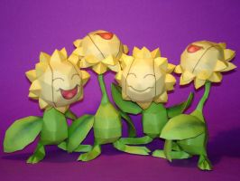 Sunflora Papercraft by Skele-kitty