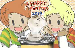 A HAPPY NEW YEAR by riceter