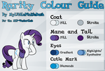Rarity Colour Guide by Atmospark