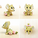 Baby Kougra unconverted handmade clay sculpture by lyrese