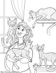 TICA Cat Coloring Book Page 4 by kiki-doodle