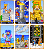 8-Bit Tarot, set 3 by indy1725
