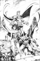DC Big 3 - Supes, Bats, WW by JasonMetcalf