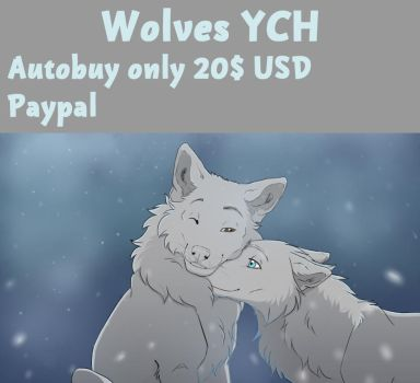 Wolves YCH OPEN by Evelinapoodle