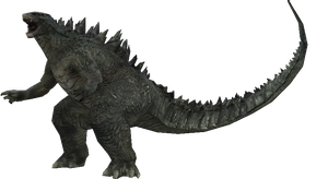 Godzilla 2014 Battle Pose by sonichedgehog2