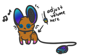 Portable Mouse Speaker Auction closed by axelsadoptables