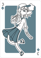 Adventure Time Style Hitomi - Three of Spades by catiniata