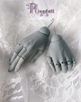 Ringdoll grey skin jointed hands 1 by Ringdoll
