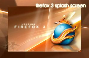 Firefox 3 Splash Screen by xCrucialx