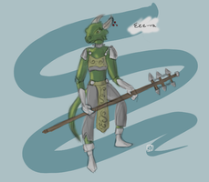 Eez-ra The Argonian by ashwolfholmes