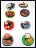 Tiny Polymer Clay Foods by chat-noir