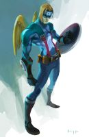 Captain America ke? by bonggo