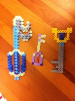 Keyblade sprites by Jena-Rose