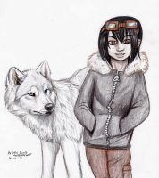 Boy and Wolf by NatsumeWolf