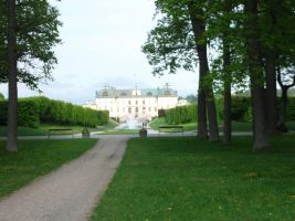Drottningholm from south entrance by Linnea-Rose