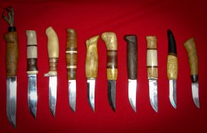 bunch of knives by Wodenswolf